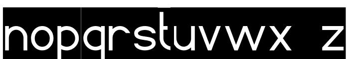 Standard International-Inverse Font LOWERCASE