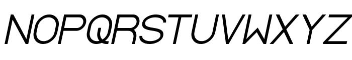 Standard International Italic Font UPPERCASE