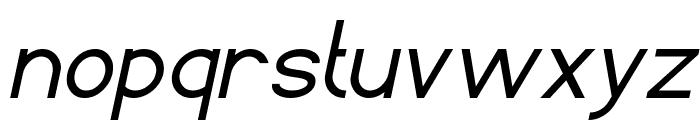 Standard International Italic Font LOWERCASE