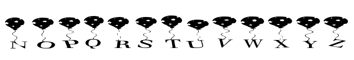 Star Balloons Regular Font UPPERCASE