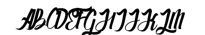 Stayhend Font UPPERCASE