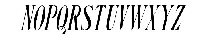 Steadfast-Italic Font UPPERCASE