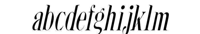 Steadfast-Italic Font LOWERCASE