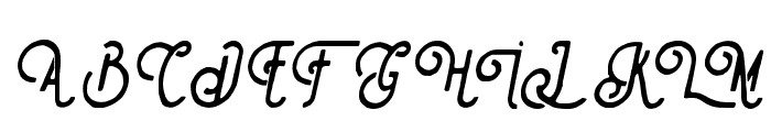 Steelworks paint italic Font UPPERCASE