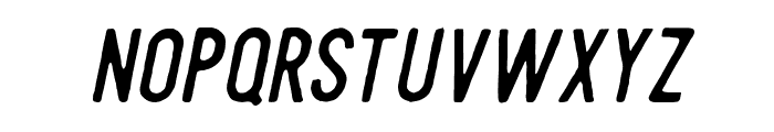 Steelworks paint italic Font LOWERCASE