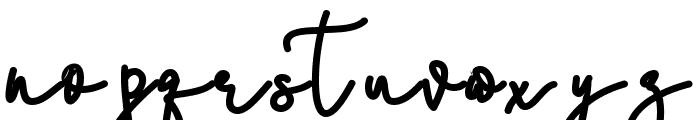 Stefani Bold Font LOWERCASE