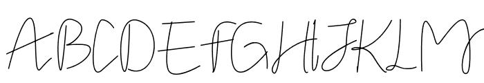 Stella signature Font UPPERCASE