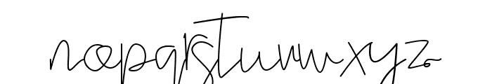 Stella signature Font LOWERCASE
