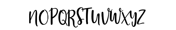 Stephanie Script Font UPPERCASE