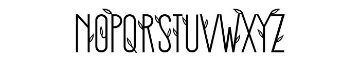 Stickman Clean Fancy Font UPPERCASE