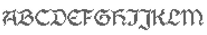 Stitch Warrior Regular Font UPPERCASE