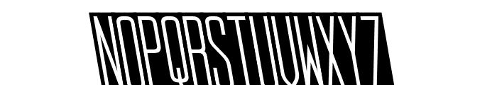 StopSlantSans Monospaced Font UPPERCASE