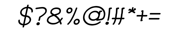 Strawberry Italic Font OTHER CHARS