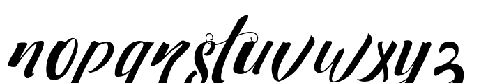 Strawberry Non Connect Font LOWERCASE
