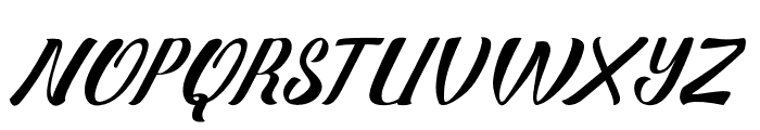 StrawberryNonConnect Font UPPERCASE