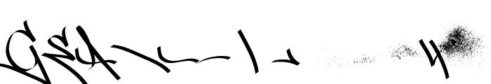 Street Tag vol1 swosh Regular Font LOWERCASE