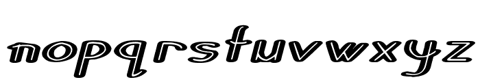 Stripes and Ribbons Italic Font LOWERCASE