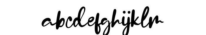StylledaBrush Font LOWERCASE