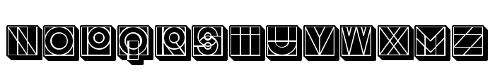 Success 3D Filled Regular Font UPPERCASE