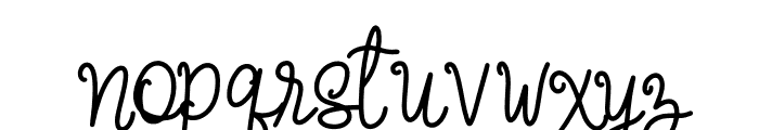Summer Breeze Font LOWERCASE