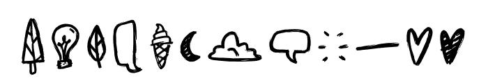 Sunrise Doodles Font UPPERCASE