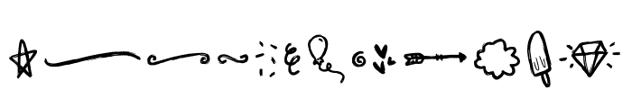 Sunrise Doodles Font LOWERCASE