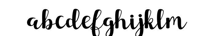 SunsetScript Font LOWERCASE