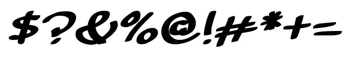 Sunshine Smile Italic Font OTHER CHARS