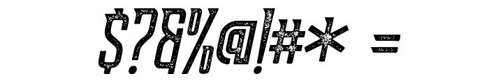 Supata-LetterpressItalic Font OTHER CHARS