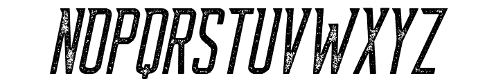 Supata-LetterpressItalic Font UPPERCASE