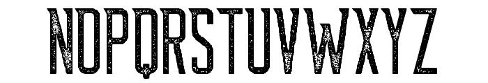Supata-Letterpress Font LOWERCASE