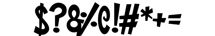 Super Toons Font OTHER CHARS