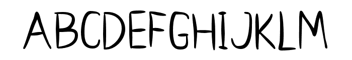 Sweet Boy Regular Font UPPERCASE