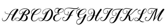SweetChildScript Font UPPERCASE
