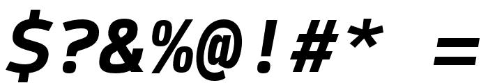 SykeMono-BoldItalic Font OTHER CHARS