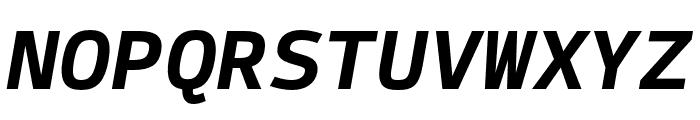 SykeMono-BoldItalic Font UPPERCASE