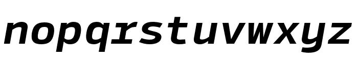 SykeMono-BoldItalic Font LOWERCASE