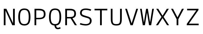 SykeMono-Light Font UPPERCASE