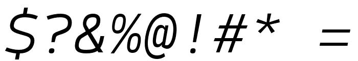 SykeMono-LightItalic Font OTHER CHARS