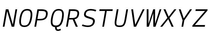 SykeMono-LightItalic Font UPPERCASE