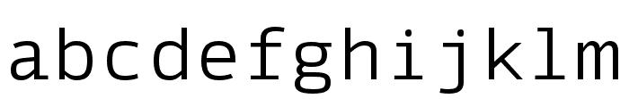 SykeMono-Light Font LOWERCASE