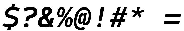 SykeMono-MediumItalic Font OTHER CHARS