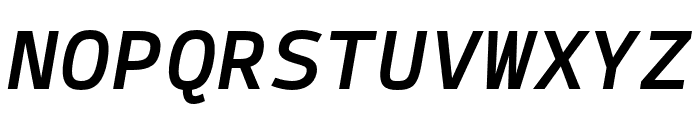 SykeMono-MediumItalic Font UPPERCASE