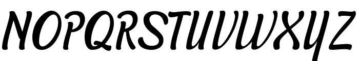 Symphony Italic Font UPPERCASE