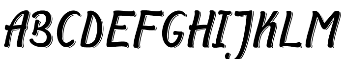 Symphony Shadow Font UPPERCASE