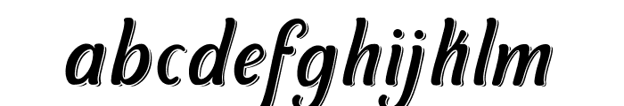 Symphony Shadow Font LOWERCASE