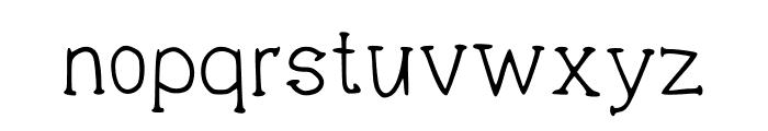 THINK Regular Font LOWERCASE