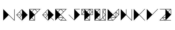 TRIANGLE FUTURA Regular Font UPPERCASE