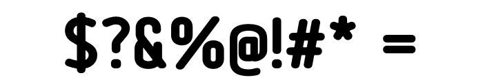Tadao-ExtraBold Font OTHER CHARS