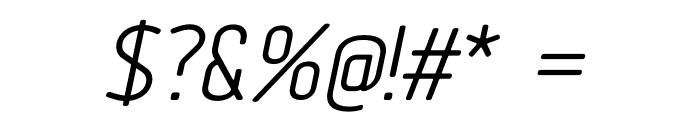 Tadao-Italic Font OTHER CHARS